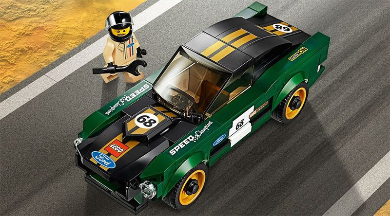 LEGO Speed Champions 75884 1968 Ford Mustang Fastback Featured 800 445 800x444