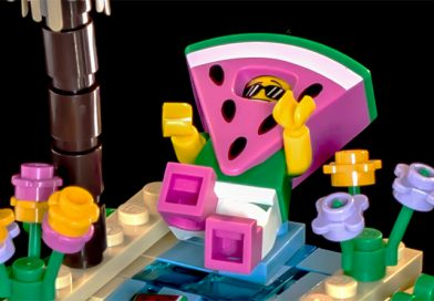 The LEGO Movie 2 Collectible Minifigures vignettes: Watermelon Guy