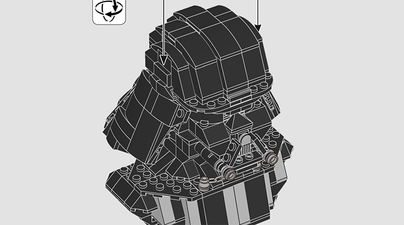 LEGO Star Wars 75227 Darth Vader Bust Instructions Featured 800 445