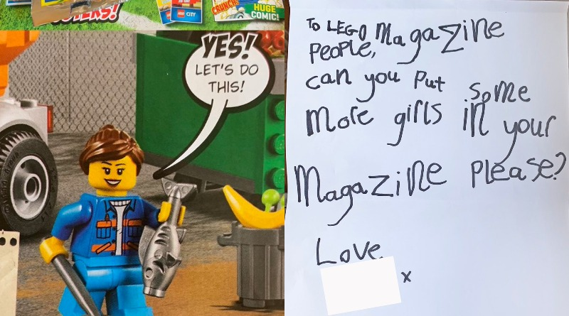 Lego Magazine Girls Tweet Featured
