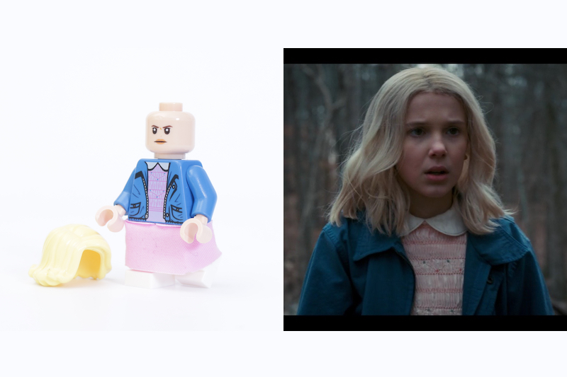 LEGO Stranger Things 75810 The Upside Down Review Minifigure Comparison Eleven