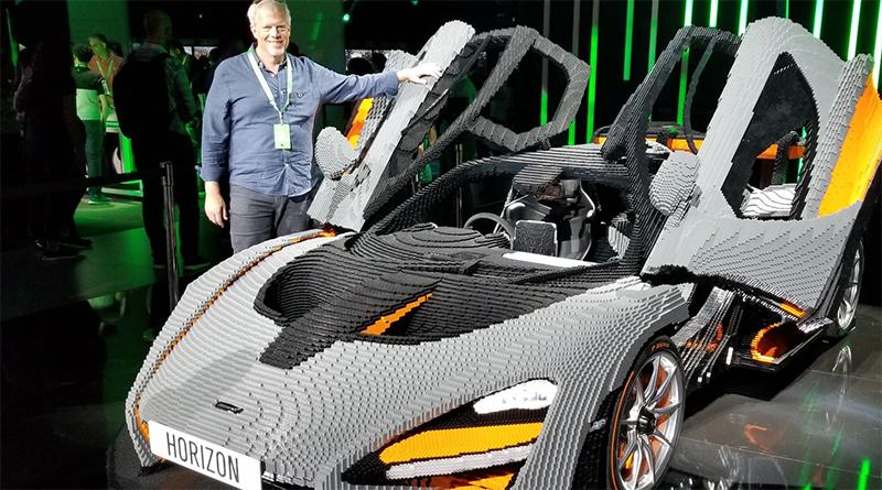 Full size LEGO McLaren Senna promotes Forza Horizon 4 at E3 2019