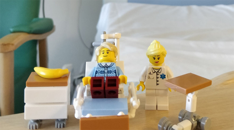 Great LEGO Brick Hospital Bed Featured 800 445