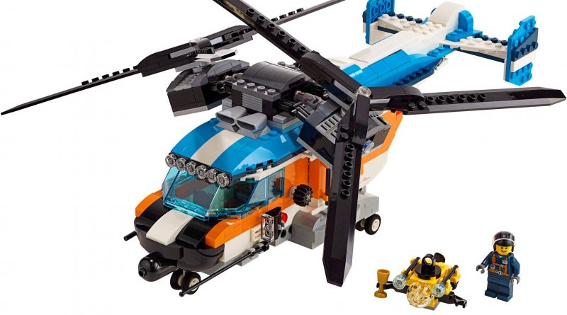 LEGO Creator 31096 Twin Rotor Helicopter 800x445