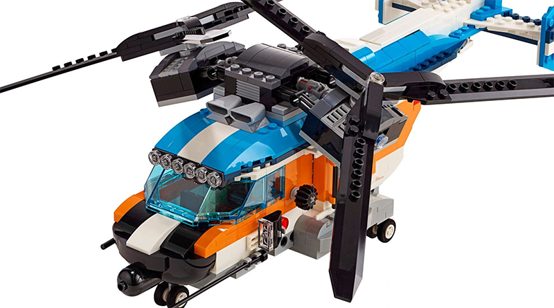 LEGO Creator 31096 Twin Rotor Helicopter Featured 800 445