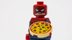 spider man alt face pizza
