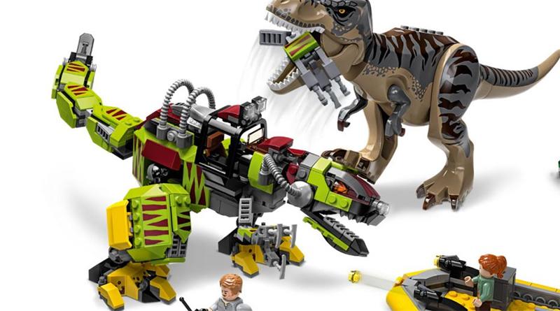 LEGO Jurassic World 75938 T Rex Vs Dino Mech Battle Featured 800 445