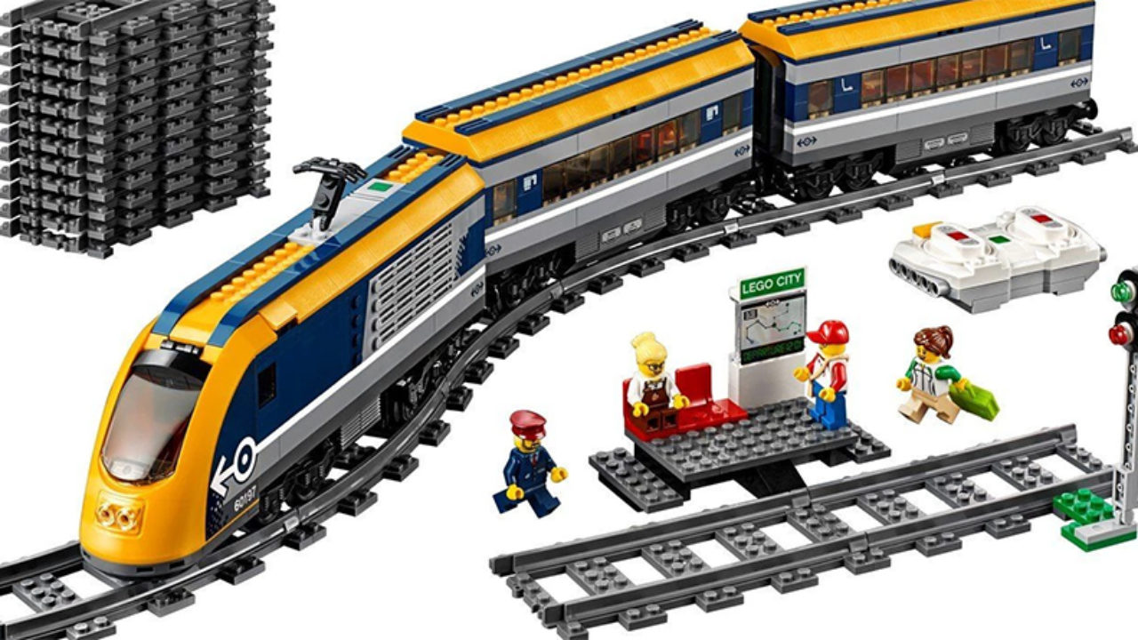 Lego Genuine City Passenger Train Railway Station Platform Signal from 60197 NEW