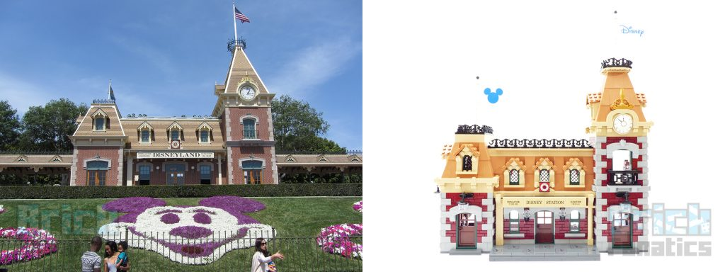 Which Disney theme park is LEGO 71044 Disney Train and