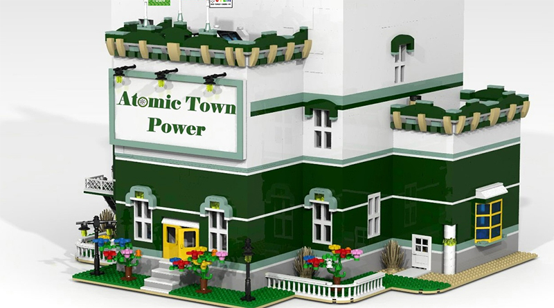 LEGO MOC Atomic Town Power Featured 800 445