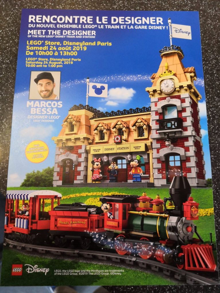 LEGO 71044 Disney Train and Station signing today at LEGO