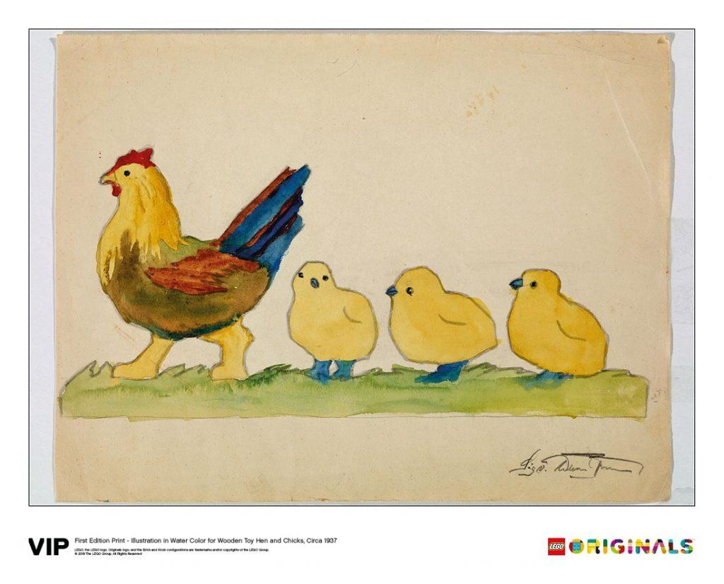 LEGO Originals Hen Chicks Wooden 1024x826