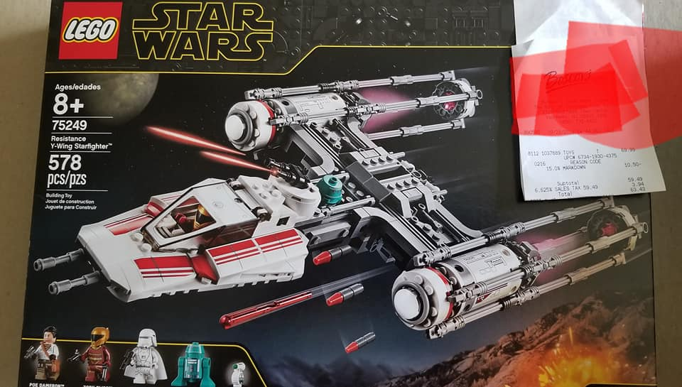 LEGO Star Wars 75249 Resistance Y Wing Starfighter 1