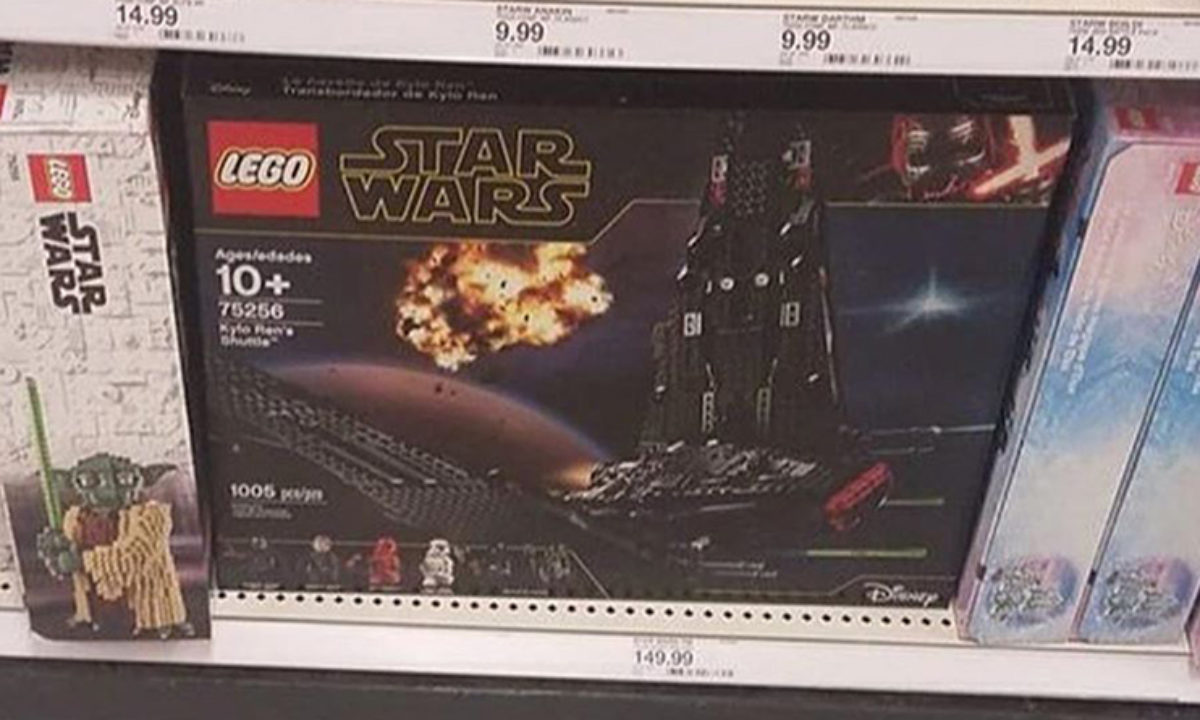 Lego Star Wars The Rise Of Skywalker 75256 Kylo Ren S Shuttle Turns Up At Retail