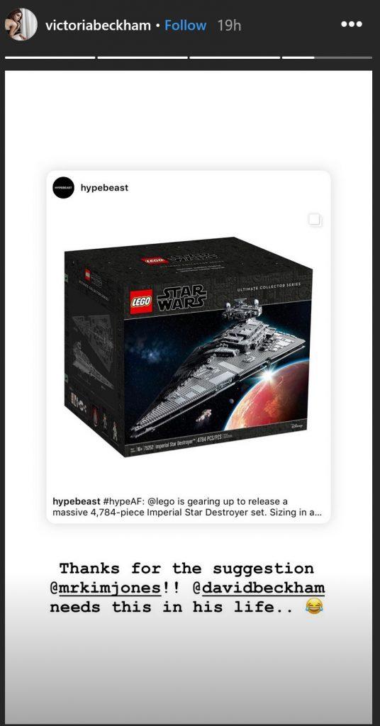 Victoria Beckham LEGO Star Destroyer 536x1024