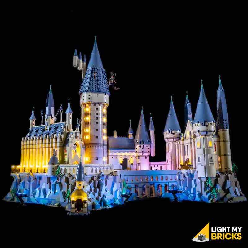 71043 LEGO Hogwarts Castle Front Light Light My Bricks