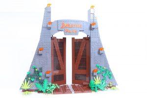 75936 Jurassic Park: T. rex Rampage gate opens