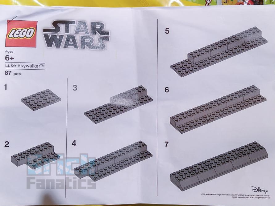 LEGO Star Wars Luke Skywalker timeline make and take instructions