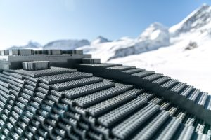 LEGO Star Wars full sized X-wing lands in the Swiss Alps