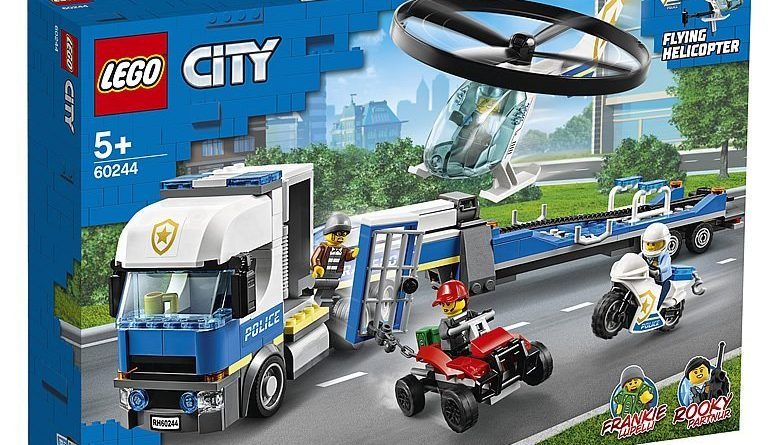 LEGO City 60244 Police Helicopter Transport 1 780x445