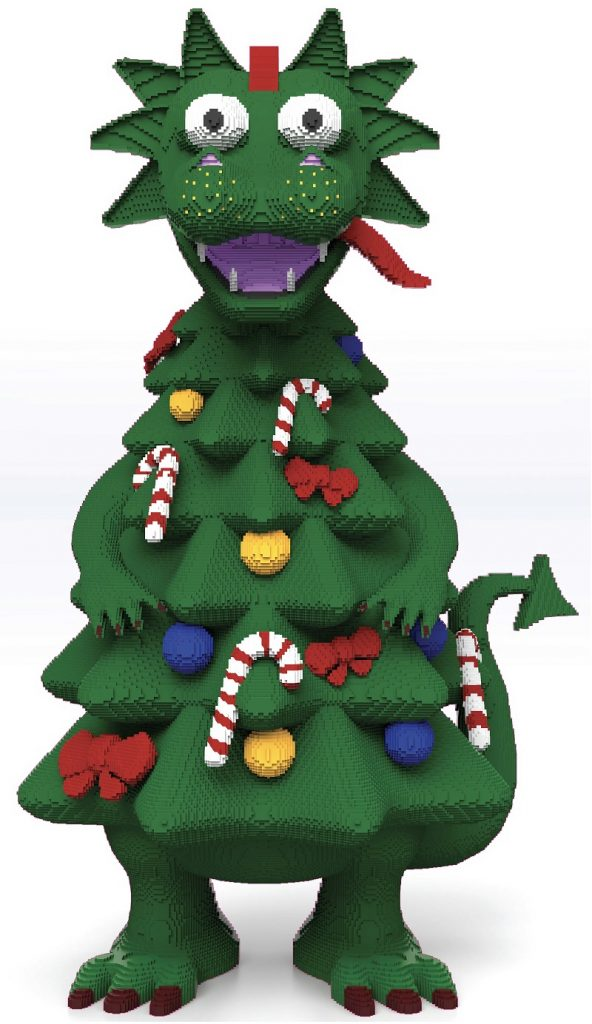 LEGO Dragon Christmas Tree 592x1024
