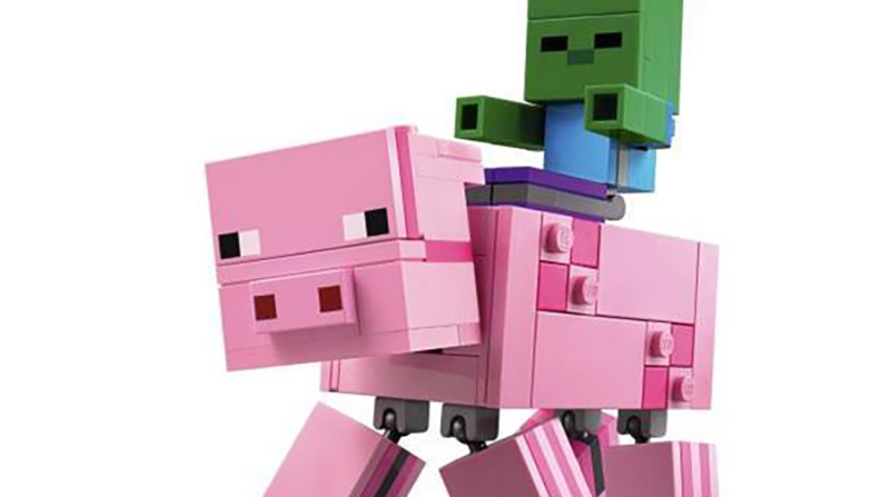 LEGO Minecraft 21157 Pig With Zombie Bigfig Featured 800 445