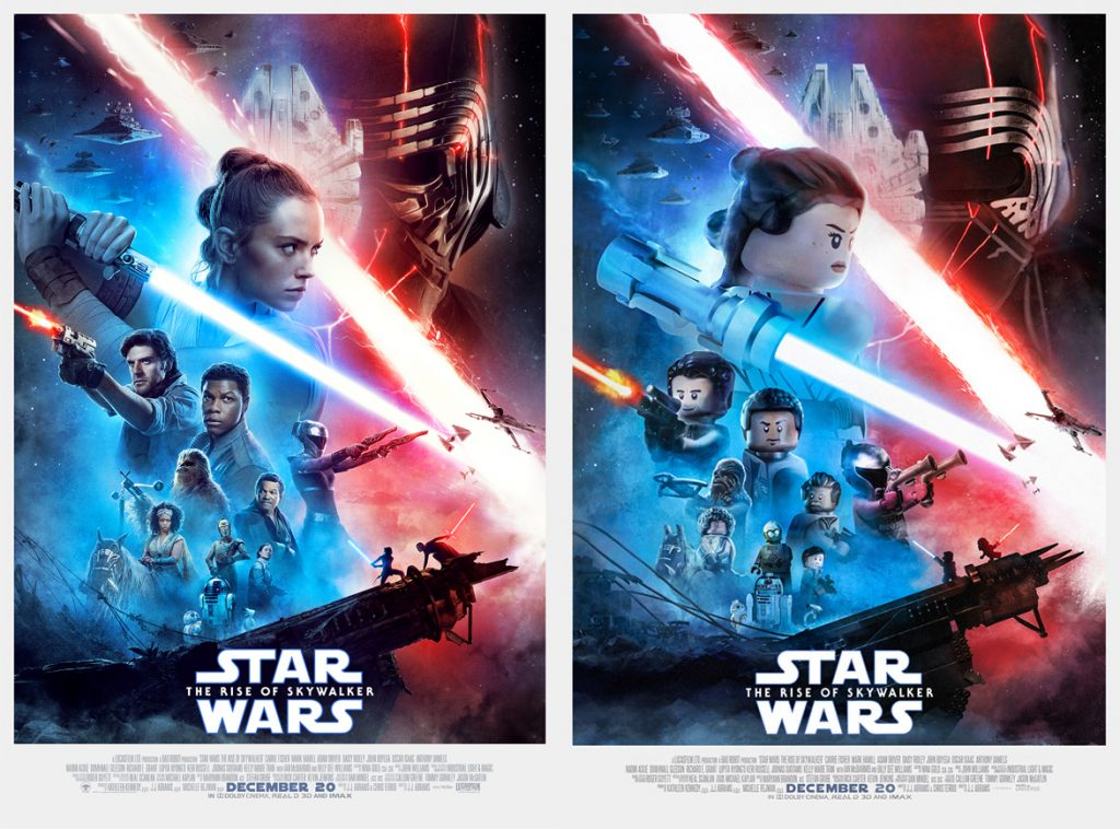Lego Style Star Wars The Rise Of Skywalker Poster Unveiled
