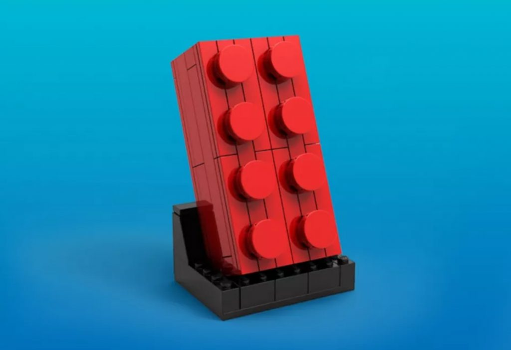 Red Buildable LEGO Brick