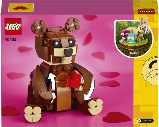 40462 Valentines Brown Bear 3