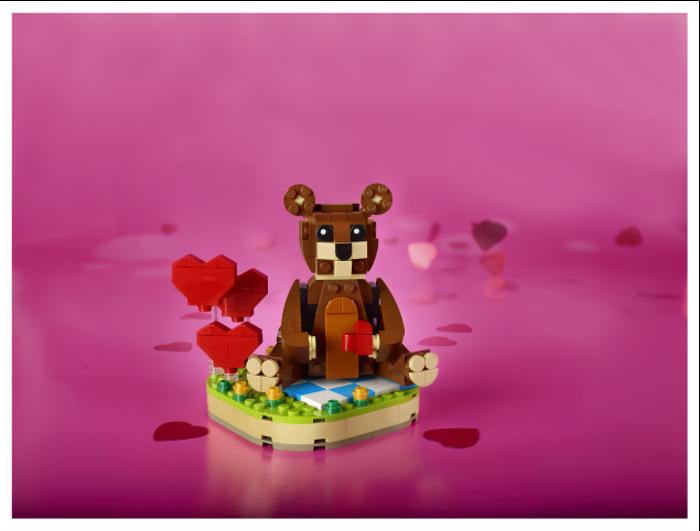 40462 Valentines Brown Bear 5