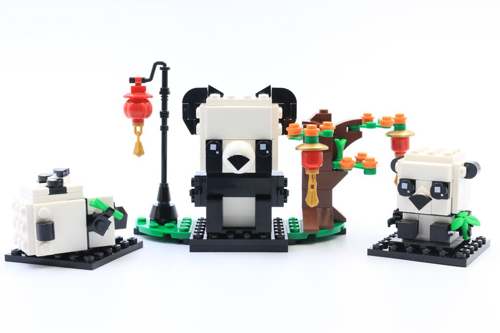 LEGO BrickHeadz 40466 Chinese New Year Pandas review