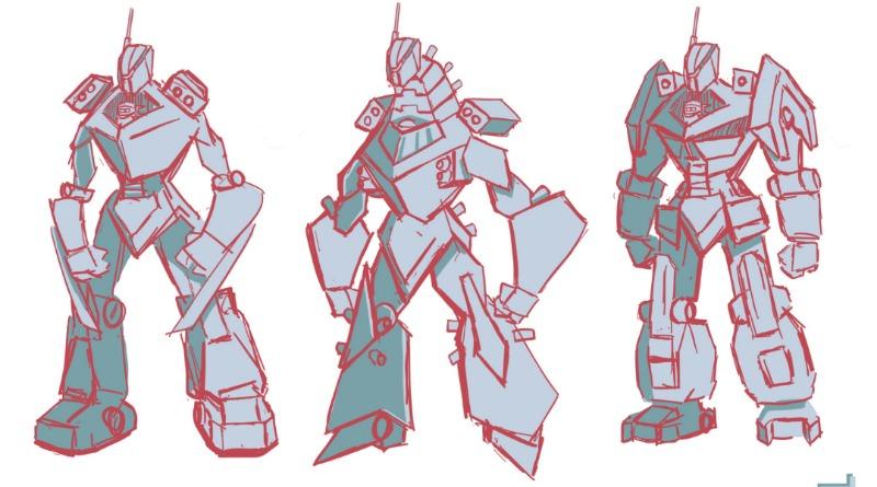 71738 Zanes Titan Mech Battle Concept Sketches Featured