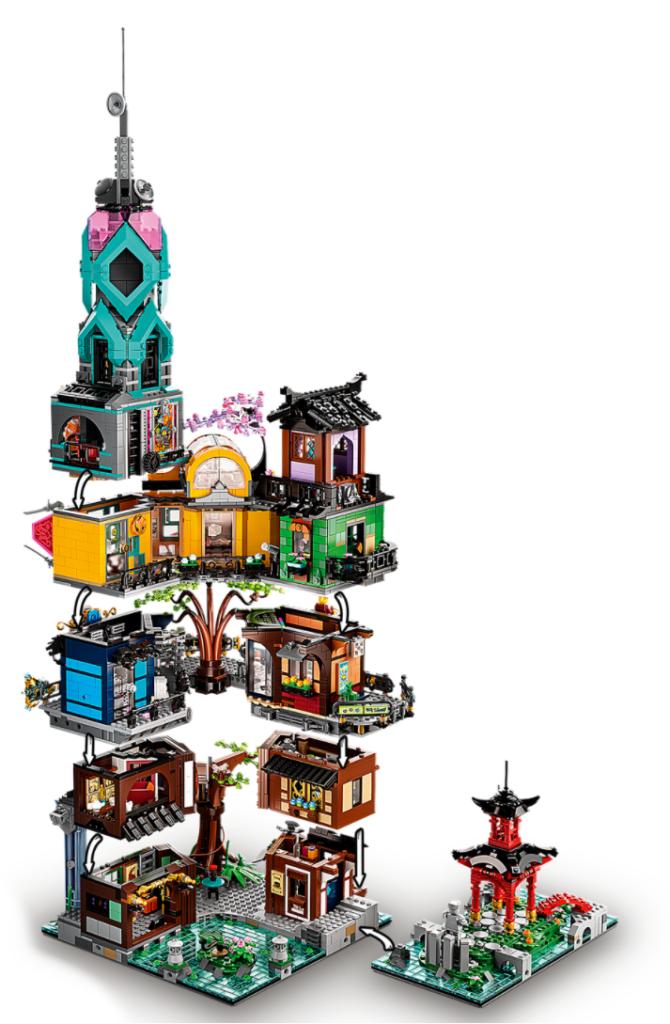 71741 LEGO NINJAGO City Gardens Rear