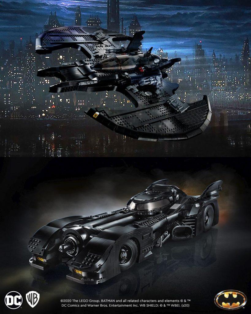 76161 1989 Batwing And 76139 1989 Batmobile LEGO Batman Advert