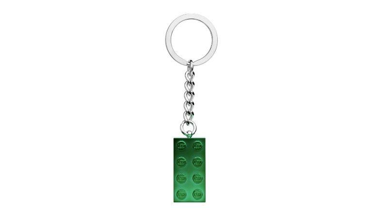 854083 2x4 Green Metallic Keyring