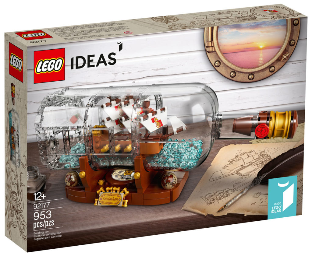 92177 Lego Ideas Ship Bottle 2020 Box