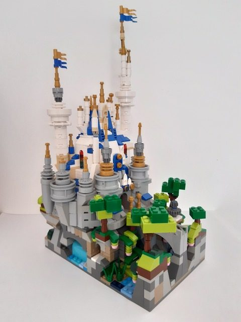 Bevis Musson LEGO micro 71040 The Disney Castle rotated