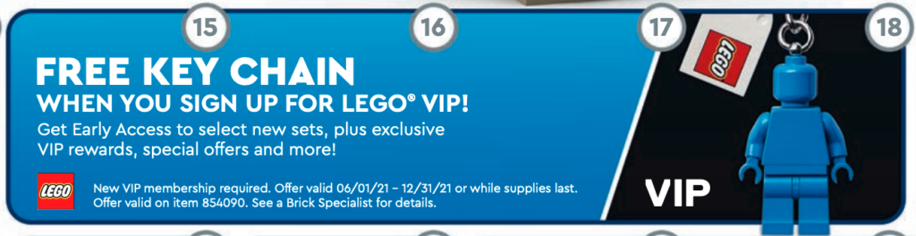 Blue Keychain LEGO VIP