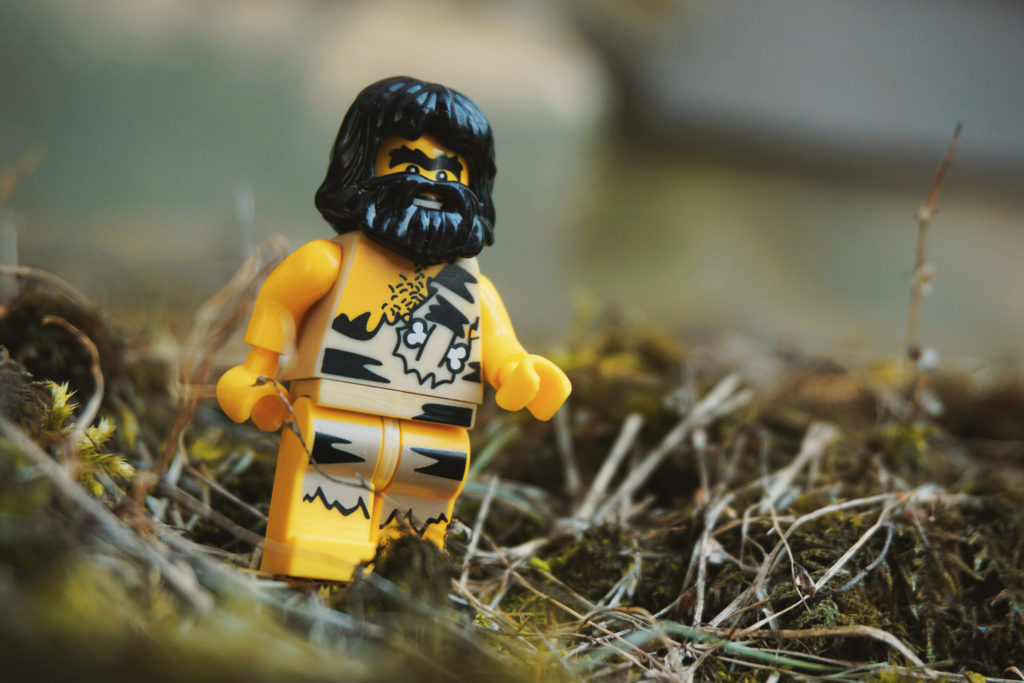 Brick Pic Caveman