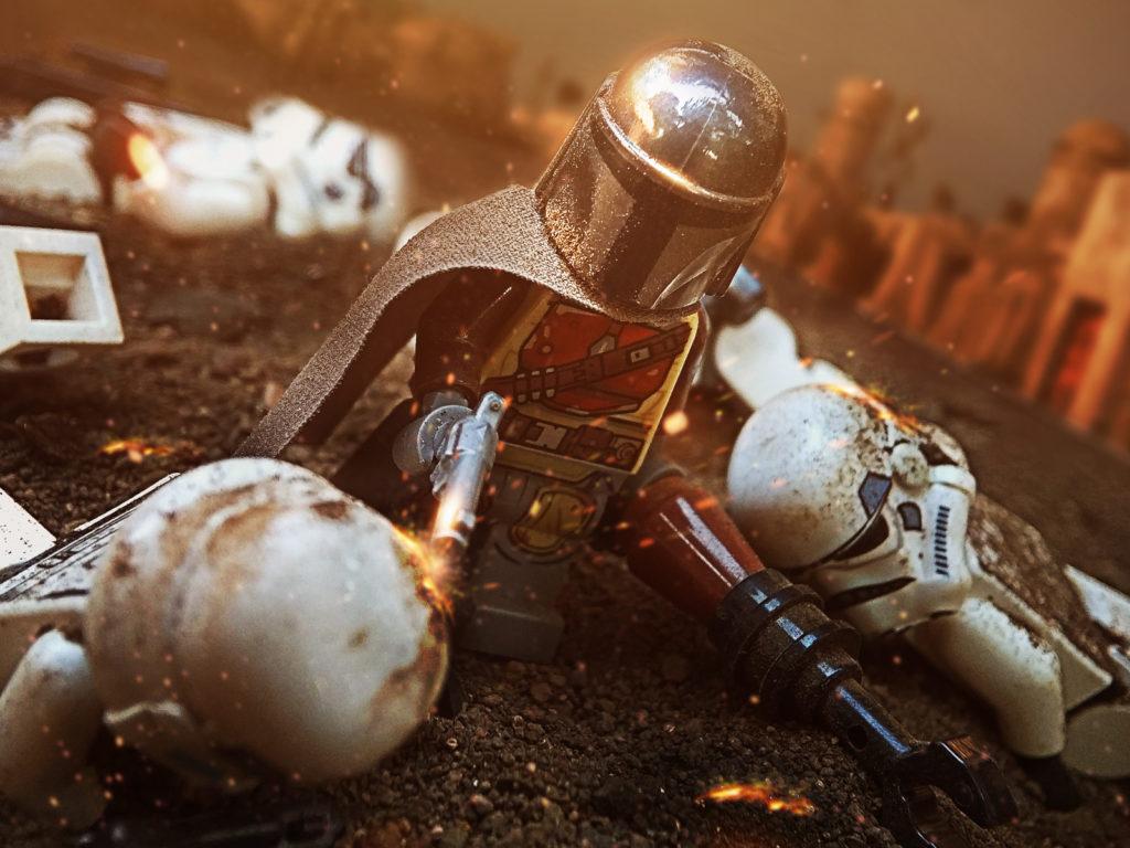 Brick Pic Mandalorian Battle