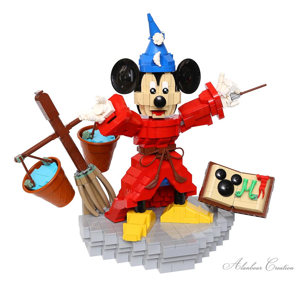Brick Pic Sorceror Mickey