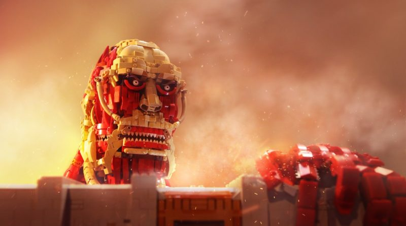 Brick Pic of the Day Attack on titan featured