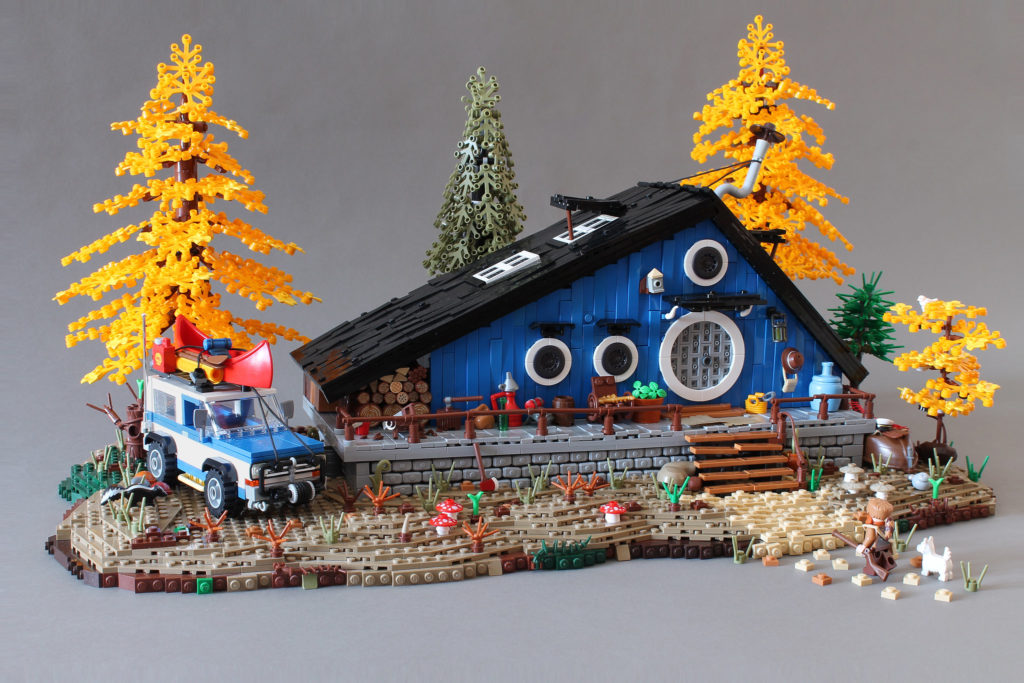 Brick Pic of the Day Blue Cottage
