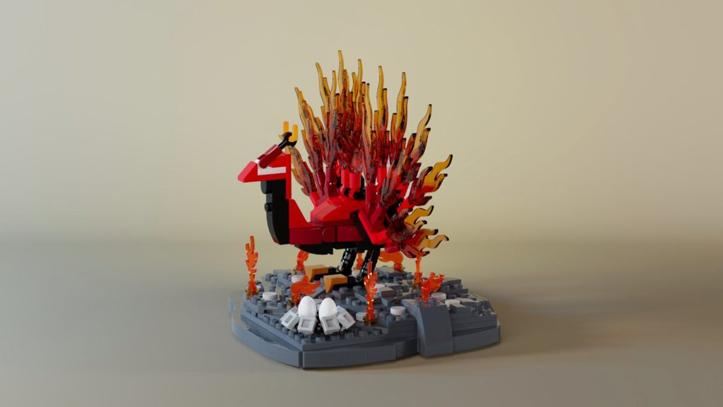 Brick Pic Of The Day Flaming Peacock