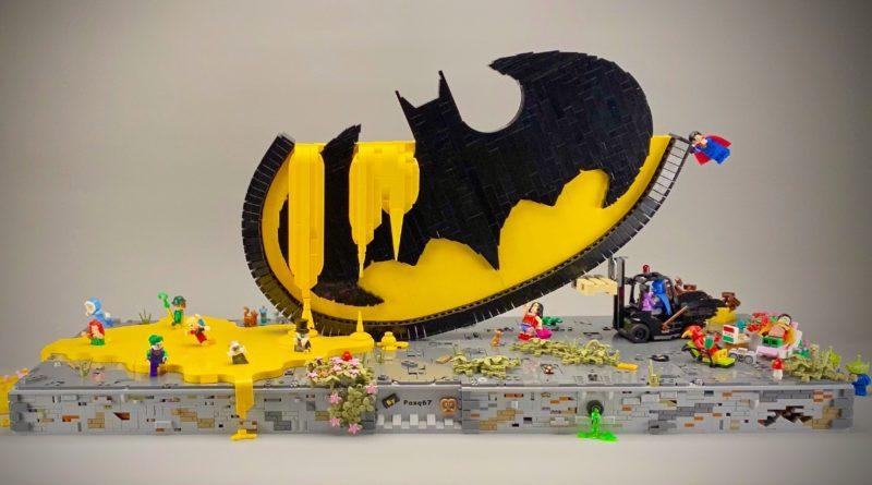 Brick Pic of the Day Holy melting Bat logo Batman featured