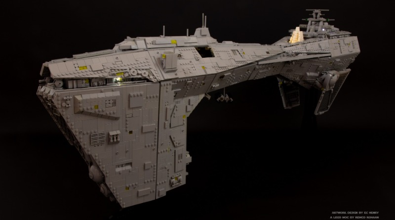 Brick Pic Of The Day Imperial Nebulon Frigate Featured