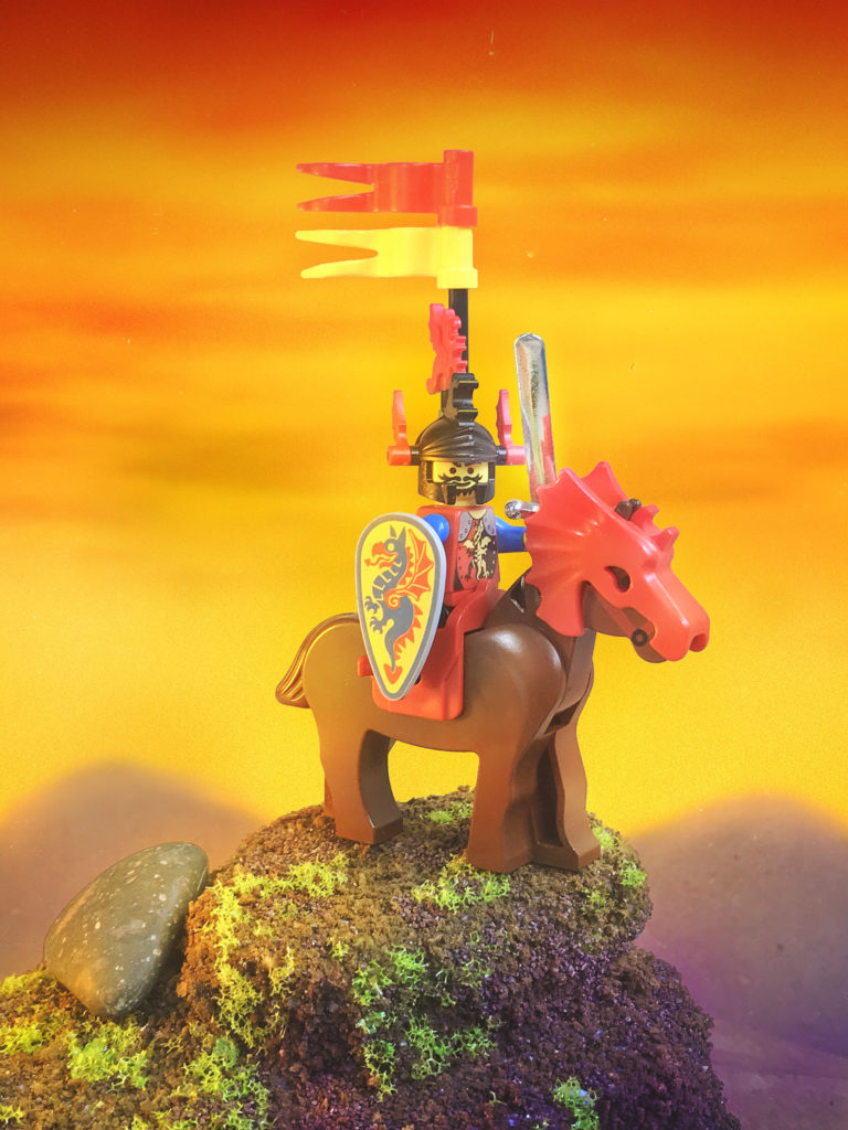 Brick Pic of the Day Sunset Knight