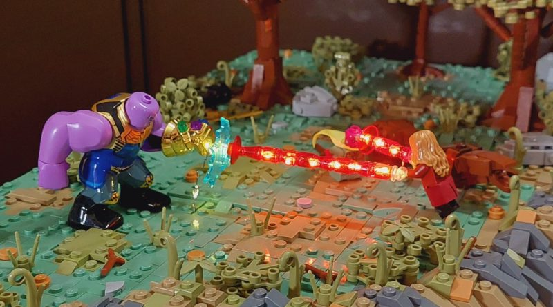 Brick Pic of the Day Wanda vs. Thanos featured