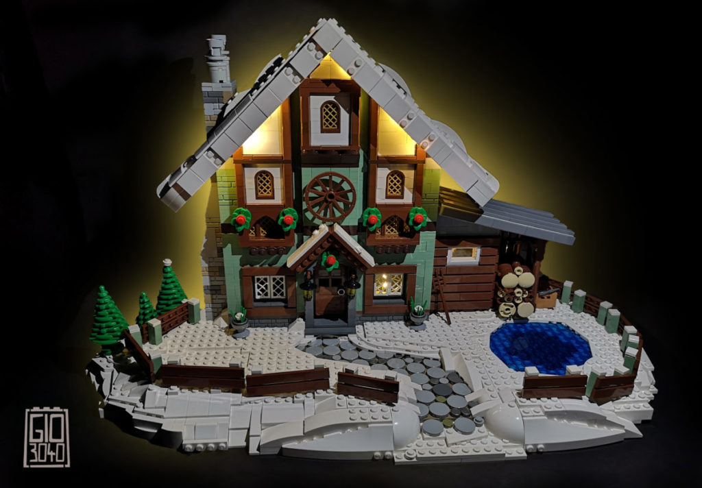 Brick Pic of the day winter cottage