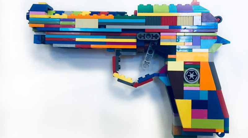 LEGO gun from the Brick by Brick exhibition